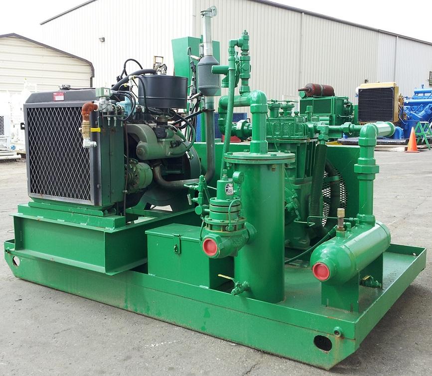 Natural Gas Engine Driven Air Compressor